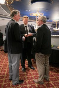 Pre-concert VIP reception. Middle: Zsombor Burany CEO telMAX with 2 guests. Photo by Marion Voysey