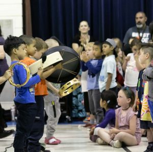 K-3 students love joining the musicians in the performances.