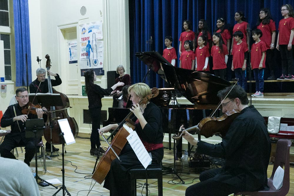 Euterpe performing with Choir at Rose Ave PS December 2017