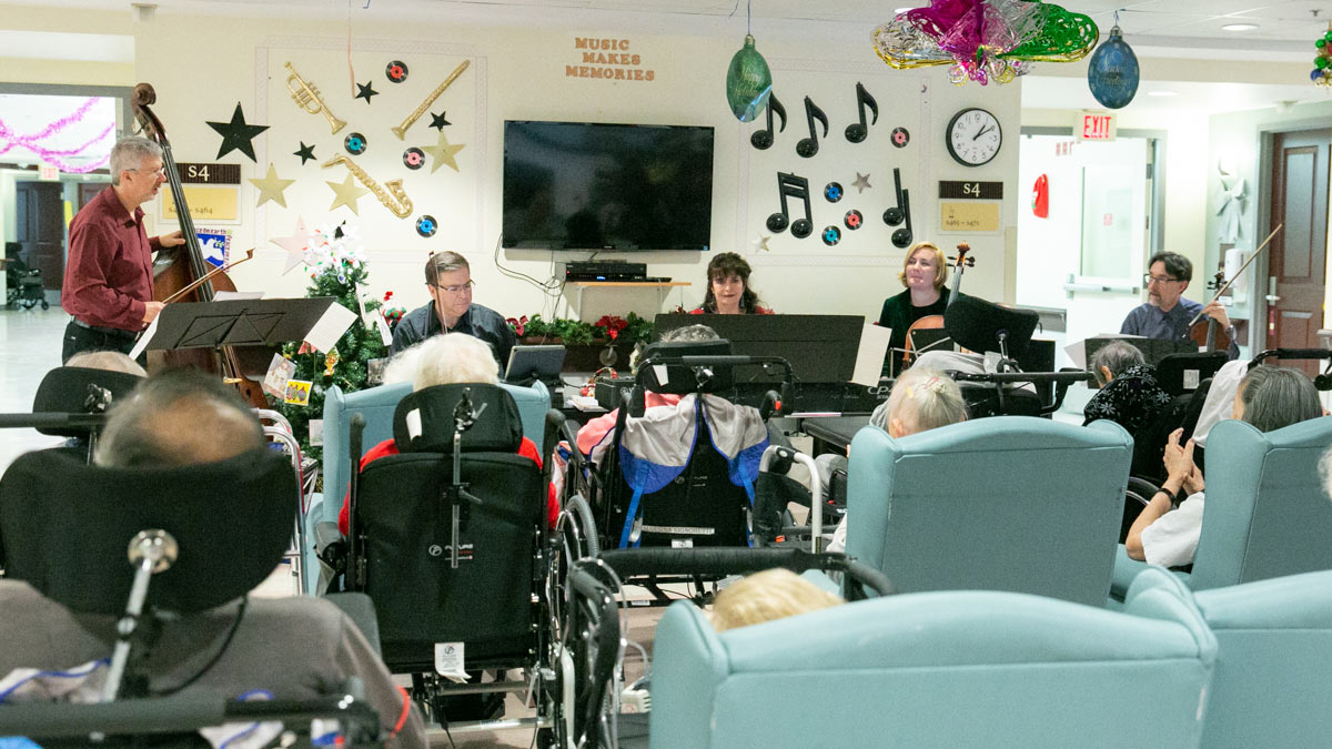 Euterpe performs for Cummer Lodge Residents
