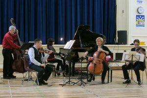 EV: Catherine Wilson, piano; Jim Vivian, bass; Corey Gemmell, violin; Sybil Shanahan, cello; Norman Hathaway, viola