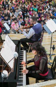 Catherine Wilson, piano; Corey Gemmell, violin;