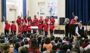 St. James Town Children's Choir. St. James Town choral with conductor Anne Massicotte
