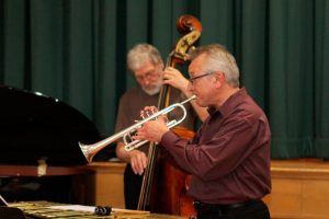 Phil Seguin, trumpet and Don Thompson, bass in performance